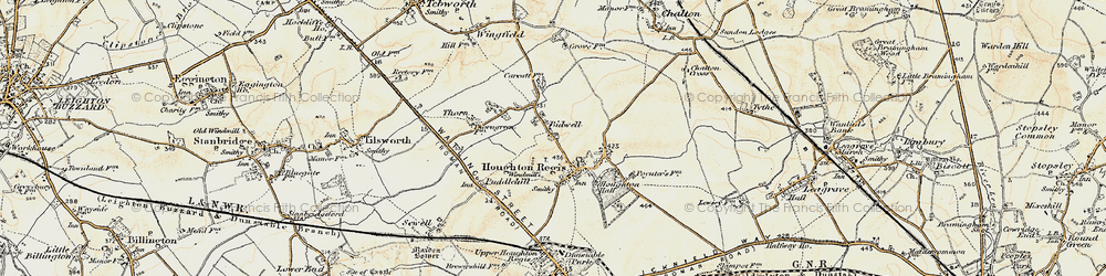 Old map of Bidwell in 1898-1899