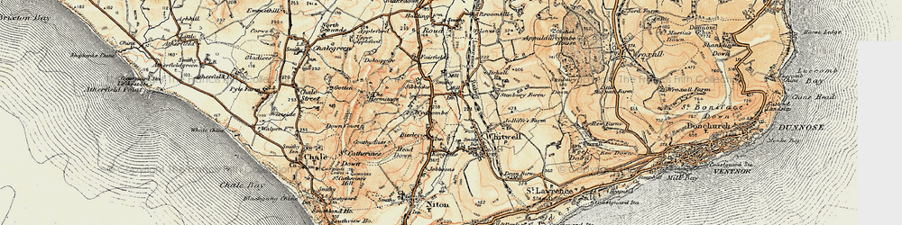Old map of Wydcombe in 1899