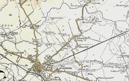 Old map of Bierton in 1898