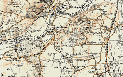 Old map of Bigfrith in 1897-1909