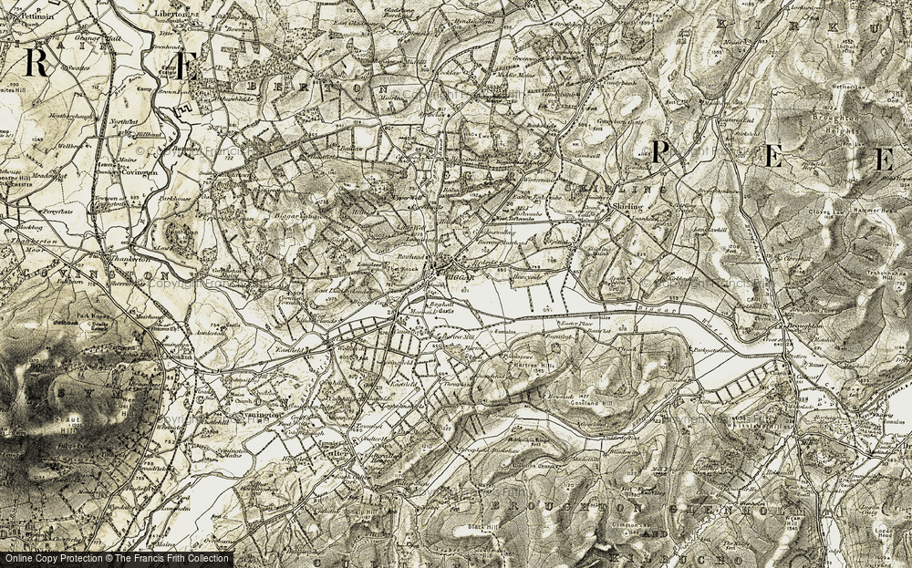 Old Map of Historic Map covering Balwaistie in 1904-1905