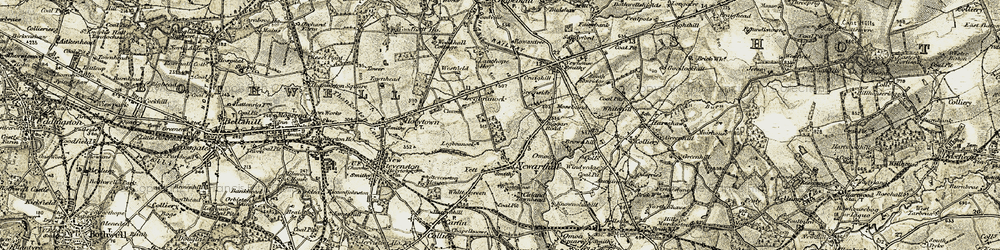 Old map of Legbranock in 1904-1905