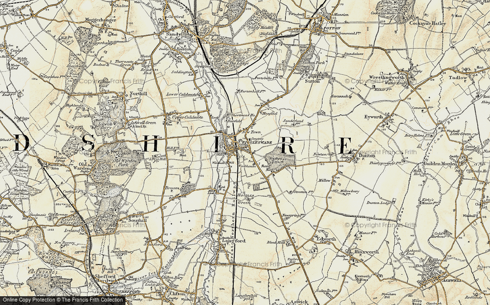 Old Map of Biggleswade, 1898-1901 in 1898-1901