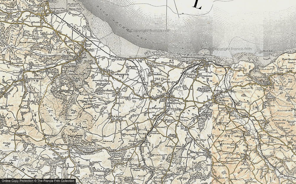 Old Map of Historic Map covering Linton in 1898-1900