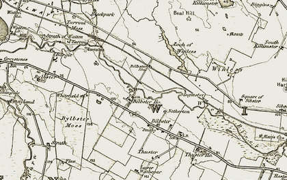 Old map of Whitefield in 1911-1912
