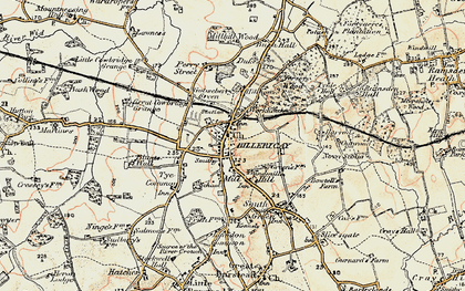 Old map of Billericay in 1898