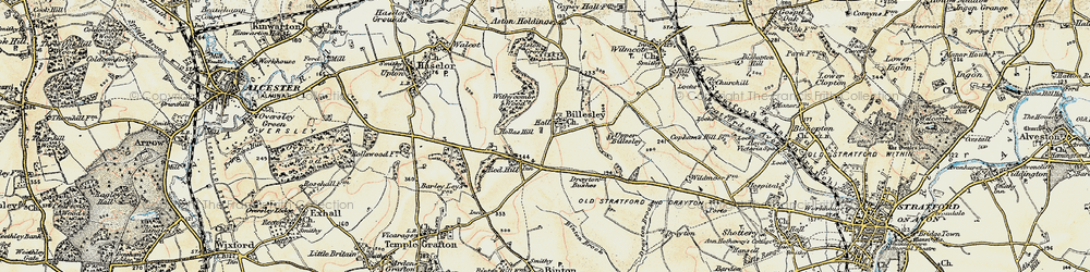 Old map of Withycombe Wood in 1899-1902
