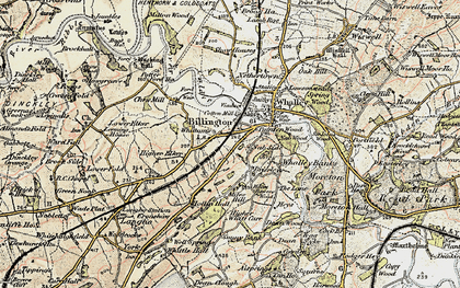 Old map of Billington in 1903-1904