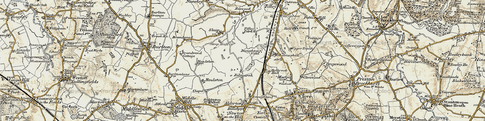Old map of Tilley Park in 1902