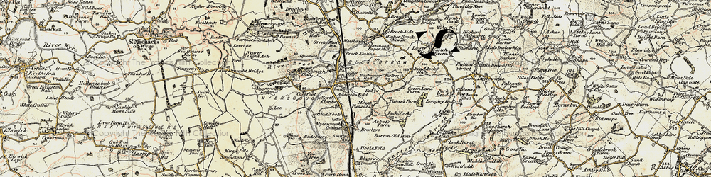 Old map of Anderton Fold in 1903-1904