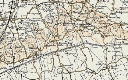 Old map of Bilsington in 1897-1898