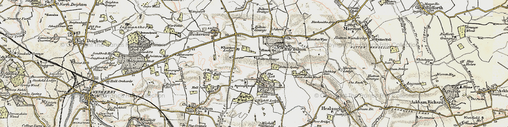 Old map of Wighill Lodge in 1903-1904