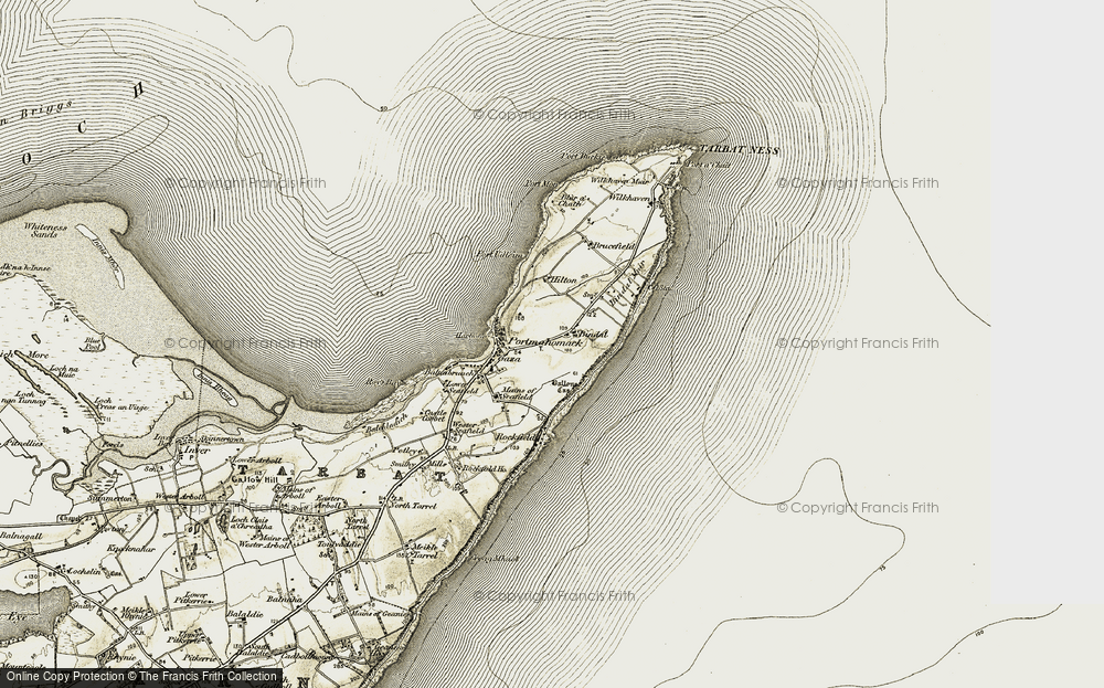 Old Map of Bindal, 1910-1912 in 1910-1912