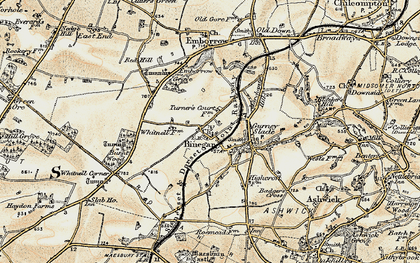 Old map of Whitnell Ho in 1899