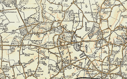 Old map of Binfield in 1897-1909