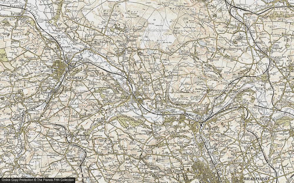 Old Map of Bingley, 1903-1904 in 1903-1904