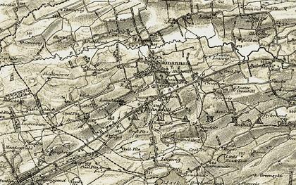 Old map of Balcastle Ho in 1904-1905