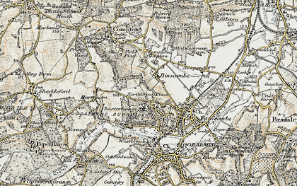 Old map of Binscombe in 1897-1909