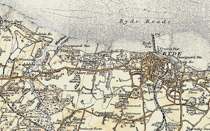 Old map of Binstead in 1899