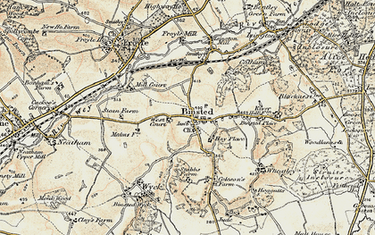 Old map of Binsted in 1897-1909