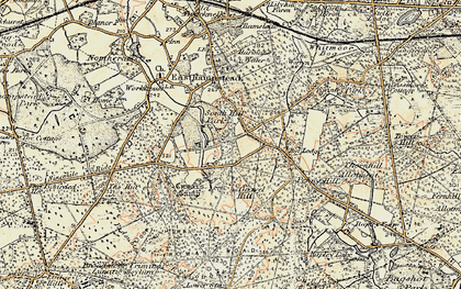 Old map of Birch Hill in 1897-1909