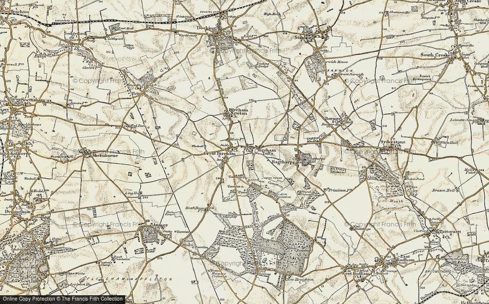 Old Map of Historic Map covering Tofts Dale in 1901-1902