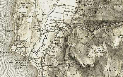 Old map of Balnacoole in 1905-1906