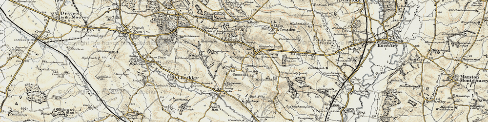 Old map of Toot Hill in 1902