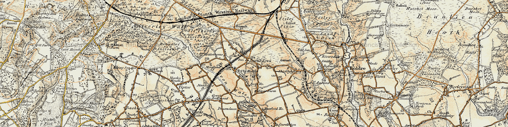 Old map of Widden Bottom in 1897-1909