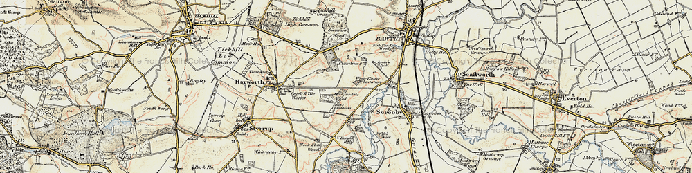 Old map of Bircotes in 1903