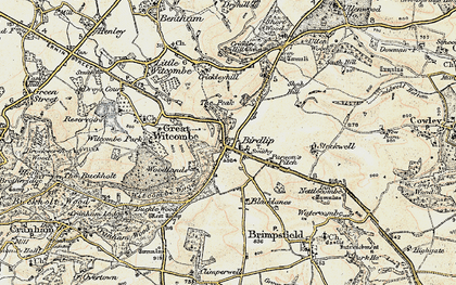 Old map of Birdlip in 1898-1900
