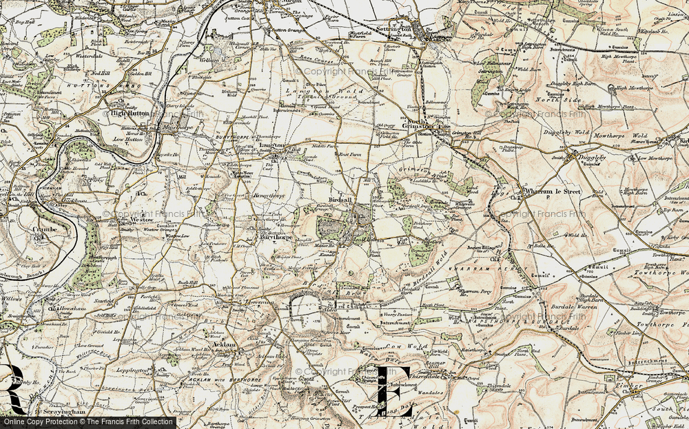 Old Map of Historic Map covering Leys Wood in 1903-1904