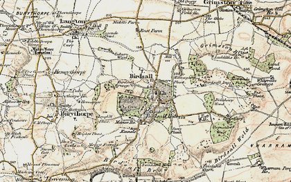 Old map of Langhill Wood in 1903-1904