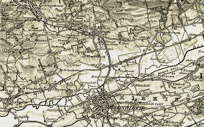 Old map of Wetshod in 1904-1907