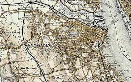 Old map of Birkenhead in 1902-1903