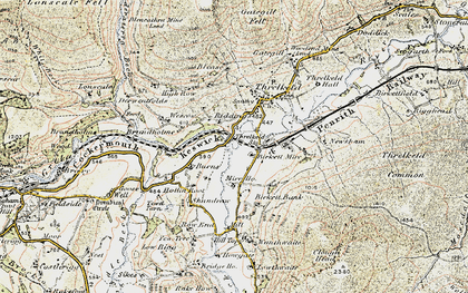 Old map of White Pike in 1901-1904