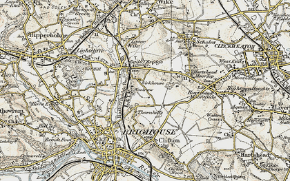 Old map of Woolrow in 1903