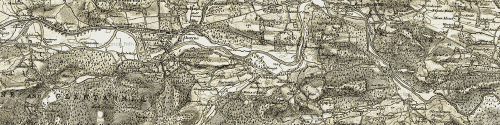 Old map of Achnafoy in 1908-1909