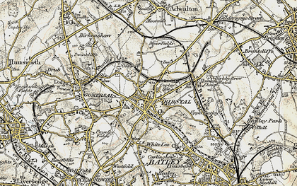 Old map of Birstall in 1903