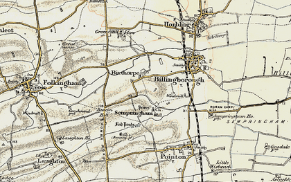 Old map of Birthorpe in 1902-1903