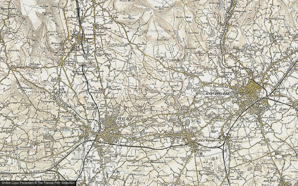 Old Map of Historic Map covering Leaches in 1903