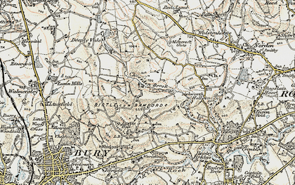 Old map of Ashworth Hall in 1903
