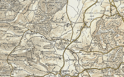 Old map of Willey Lodge in 1901-1903