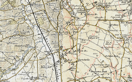 Old map of Birtley in 1901-1904