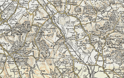 Old map of Birtley Green in 1897-1909
