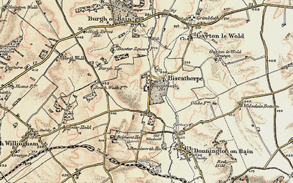 Old map of Biscathorpe in 1902-1903
