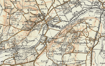 Old map of Bisham in 1897-1909