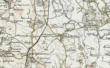 Old map of Yorbus Grange in 1903-1904