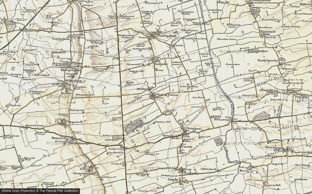 Old Map of Bishop Norton, 1903 in 1903