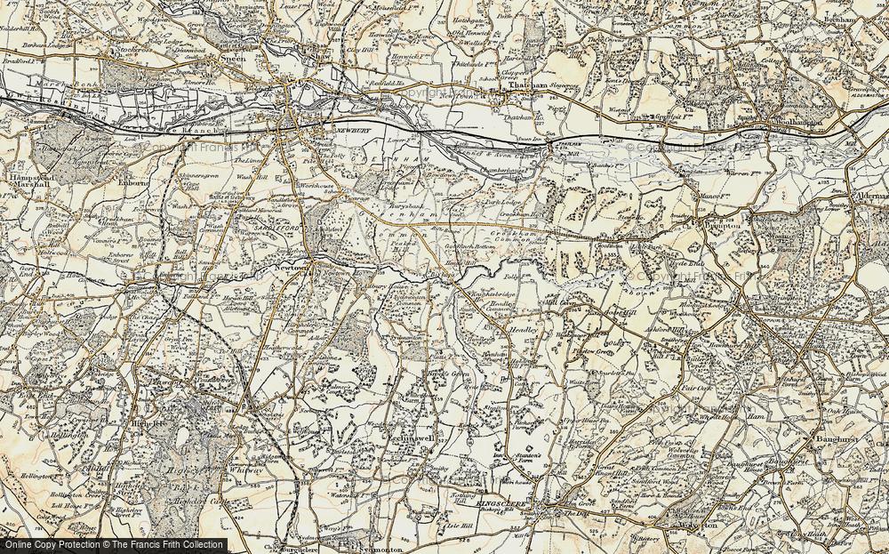 Old Map of Historic Map covering Aldern Bridge Ho in 1897-1900